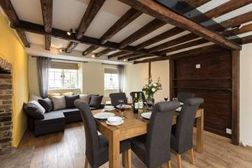 The dining-room doubles as a snug - there will be a large flat screen TV in this room as well as a TV in the main sitting-room.