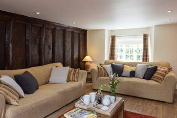 The original wooden panelling is a real feature of this historic property.