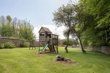 For the younger members of the group there is this lovingly maintained play area.