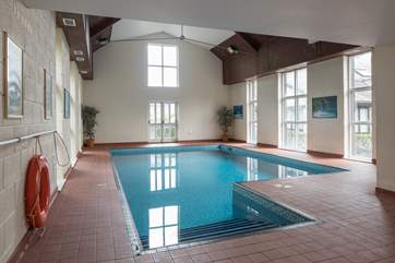 If the outdoor pool doesn't tickle your fancy, this large indoor heated pool is at your disposal.