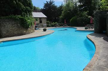 The outdoor pool is a real favourite with all generations.