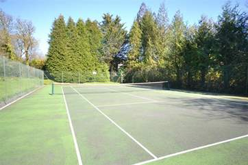 Anyone for a spot of tennis? If so, please don't forget your racket and balls.