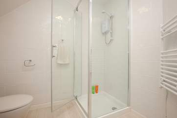 The ensuite shower room is just off the master bedroom on the 1st floor