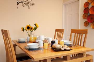 Plenty of dining space for the family