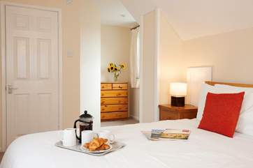 The master bedroom has views of the Solent