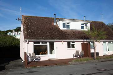 Each Tollgate cottage has a private decking at the front and rear