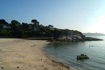 Try you hand at watersports at Swanpool Beach which is near by.