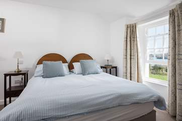 The second bedroom can be twins or a double bed.