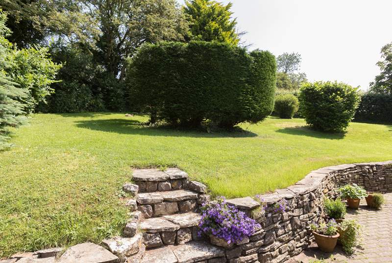 There are gardens all around this detached property.