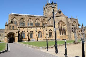 Sherborne Abbey and you will find some fine medieval buildings in this tranquil market town.