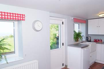 The kitchen is a really spacious, bright and cheerful room.
