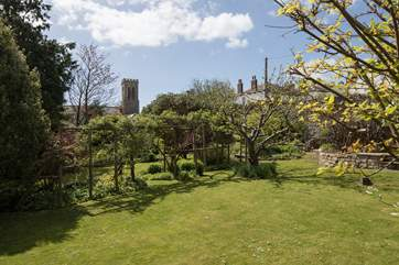 The church is opposite The Old Manor House, which give you some idea of the size of the garden.