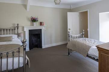 Bedroom 4 has twin beds and can form a family suite along with bedroom 2.