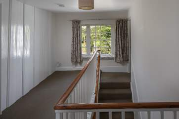 Everything is the gorgeous house is elegant, this beautiful window seat on the landing looks out over the rear garden.