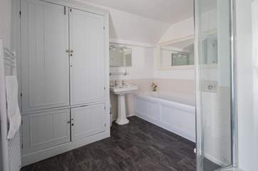 The first floor family bathroom has both a bath and shower cubicle. The wet-room with double shower is on the ground floor.