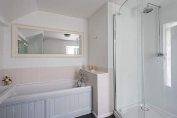 The family bathroom, the wet-room with double shower is on the ground floor.