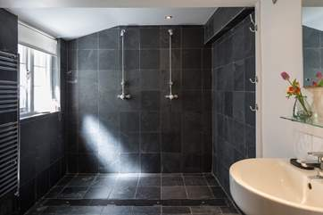The ground floor wet-room has this great space for showering sandy children and adults after a day on the beach.