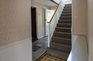 This house is so spacious and still has some of the original stone flooring.