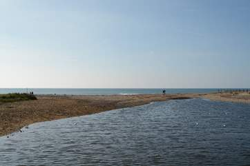 The River Char, reaches the Jurassic Coast.