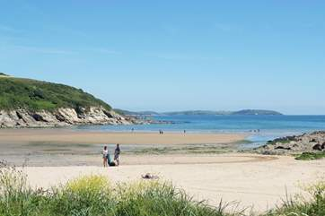 Explore the sandy beaches of Falmouth, Maenporth is a pretty cove.