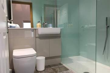 The shower-room has a luxurious walk-in shower.