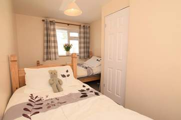 The twin bedroom is lovely and cosy.