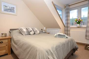 The top floor bedrooms are lovely and quiet in this town location.