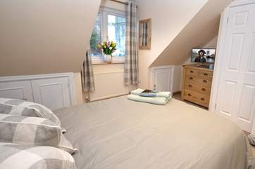 The double bedroom on the top floor is lovely and light.