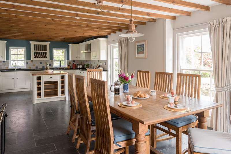 The open kitchen/diner is perfect for chatting to your nominated chef.