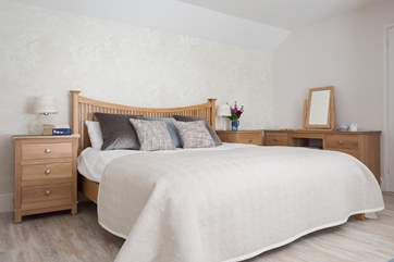The Courtyard Bedroom has a super-king bed, plenty of room to stretch out (Bedroom 2).