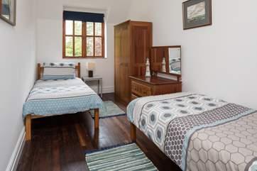 Bedroom 3, the twin room.