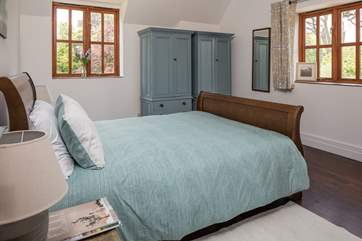 The master bedroom, bedroom 1, has a 5ft bed, en suite shower-room and lovely views over the estate.