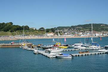 Lyme Regis is just across the border into Dorset, and has something for everyone, a great beach, summer water sports, fossils, some great cafes, restaurants, pubs and great ice cream.