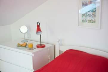 Stylish bedrooms.