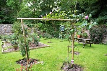 The communal garden.