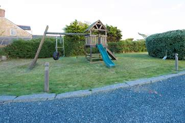 A children's play area in the garden.