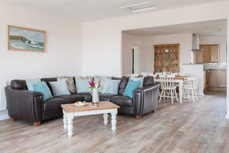 You can enjoy spending time together in this open plan property.
