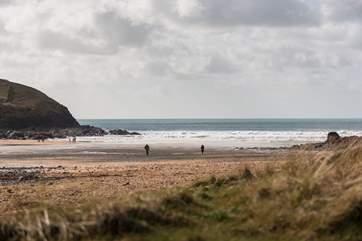 Poldhu Beach is not far away.