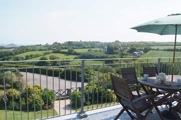 Fabulous country views towards the sea and St Michael's Mount.