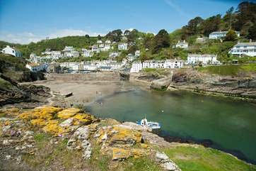 The pretty harbourside village of Polperro - full of traditional charm.
