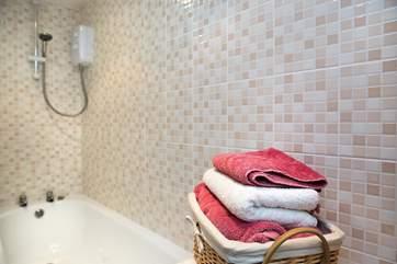 Or if you are in a bit of a rush there's a shower over the bath.