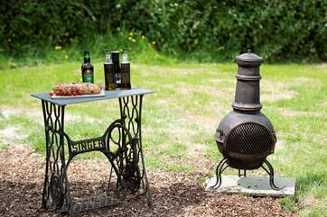 With a chiminea too.