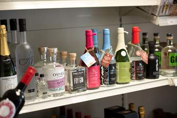 And a selection of gin too!