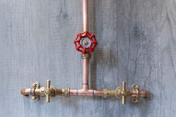 And clever use of handcrafted fittings.