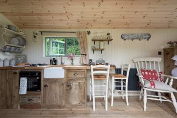 Step inside Shepherd's Rest - the kitchen is fully fitted and beautifully finished.
