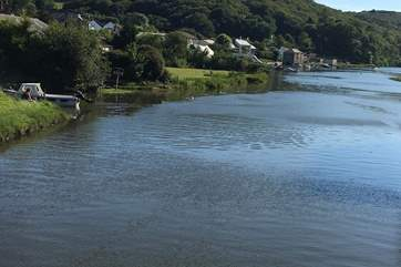 The stunning scene of the river at high tide.