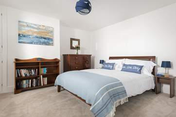 Lie in bed and enjoy the scenery from the ground floor double bedroom.