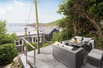 The slate terrace has a wonderful outlook, sit back and relax.