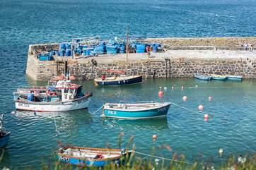Coverack harbour.