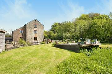 The Mill is situated in just under an acre of lush countryside including a pond and associated wildlife.
